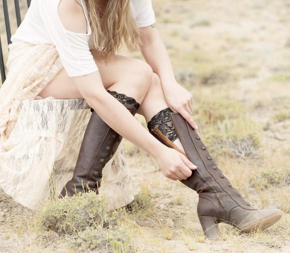 accessory socks boots boot cuff boot sock boot sock cuffs boot cuffs black lace shoe accessory boot accessory leg warmers