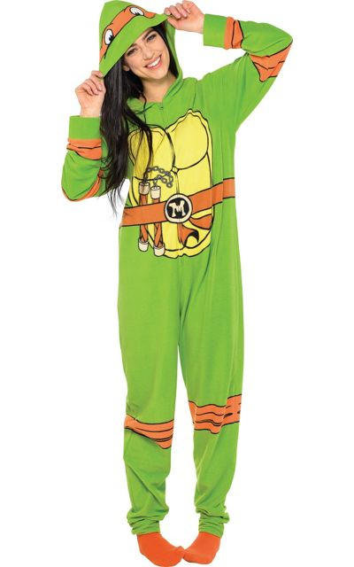 teenage mutant ninja turtle one piece pajama for adults