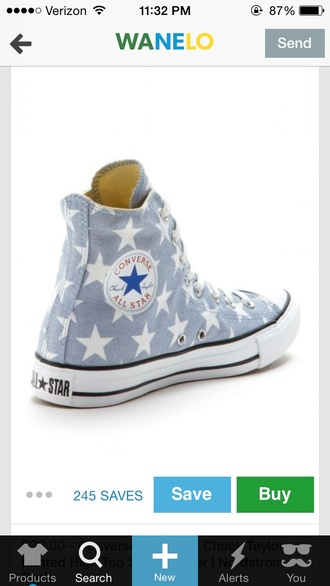 shoes high top converse chuck taylor all stars converse sneakers stars blue flats all star