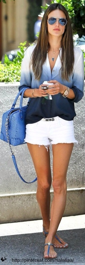 shirt ombre brand how much it cost blouse shorts summer white shorts navy clothes spring hombre dip dyed