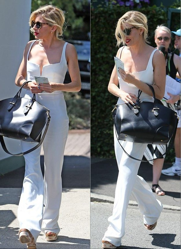 673157aa5883 jumpsuit white sienna miller summer outfits.