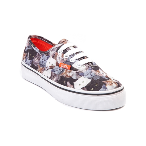 Youth vans x aspca authentic cat skate shoe, multi, at journeys shoes
