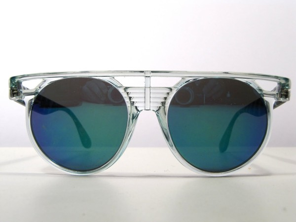 sunglasses clear blue lens vintage amazing 90s style