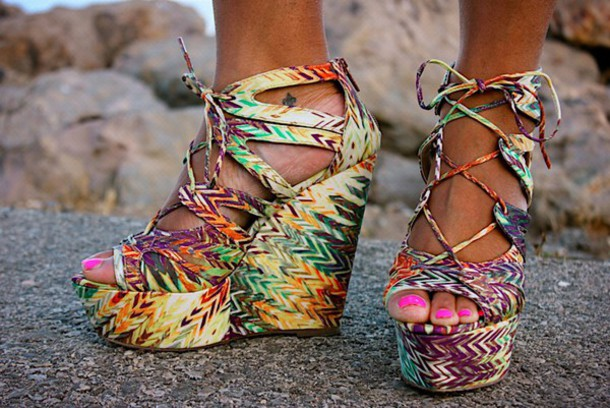shoes erica tribal wedges