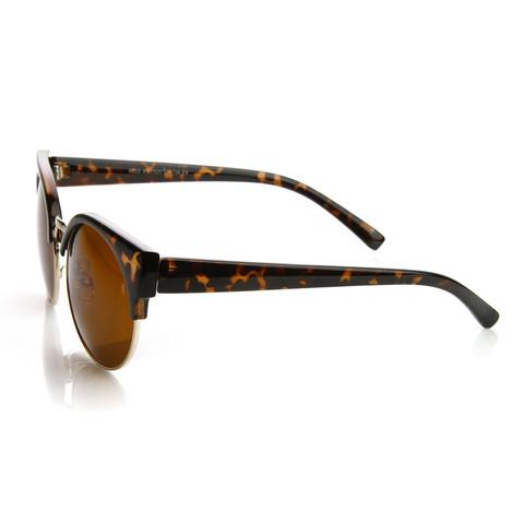 Vintage Inspired Round Circle Cat Eye Sunglasses 8785                             zeroUV