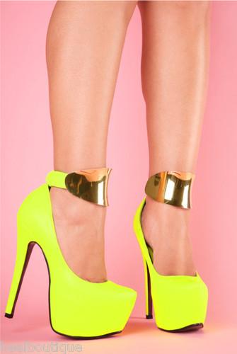 Pink Ankle Strap Pumps