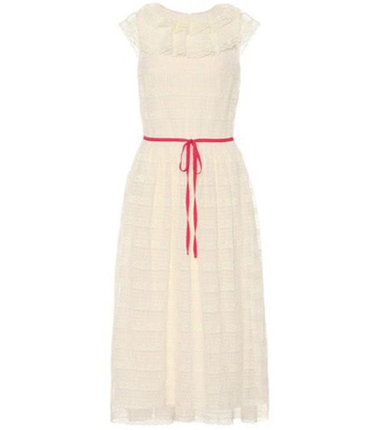 REDValentino dress lace dress sleeveless lace white