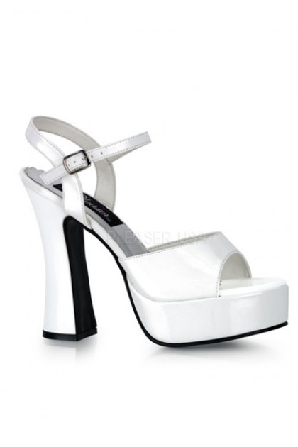 White Patent Faux Leather Peep Toe Chunky Heels  Heel Shoes online store sales:Stiletto Heel Shoes,High Heel Pumps,Womens High Heel Shoes,Prom Shoes,Summer Shoes,Spring Shoes,Spool Heel,Womens Dress Shoes,Prom Heels,Prom Pumps,High Heel Sanda
