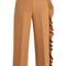 Asymmetric-ruffle wide-leg crepe-cady trousers