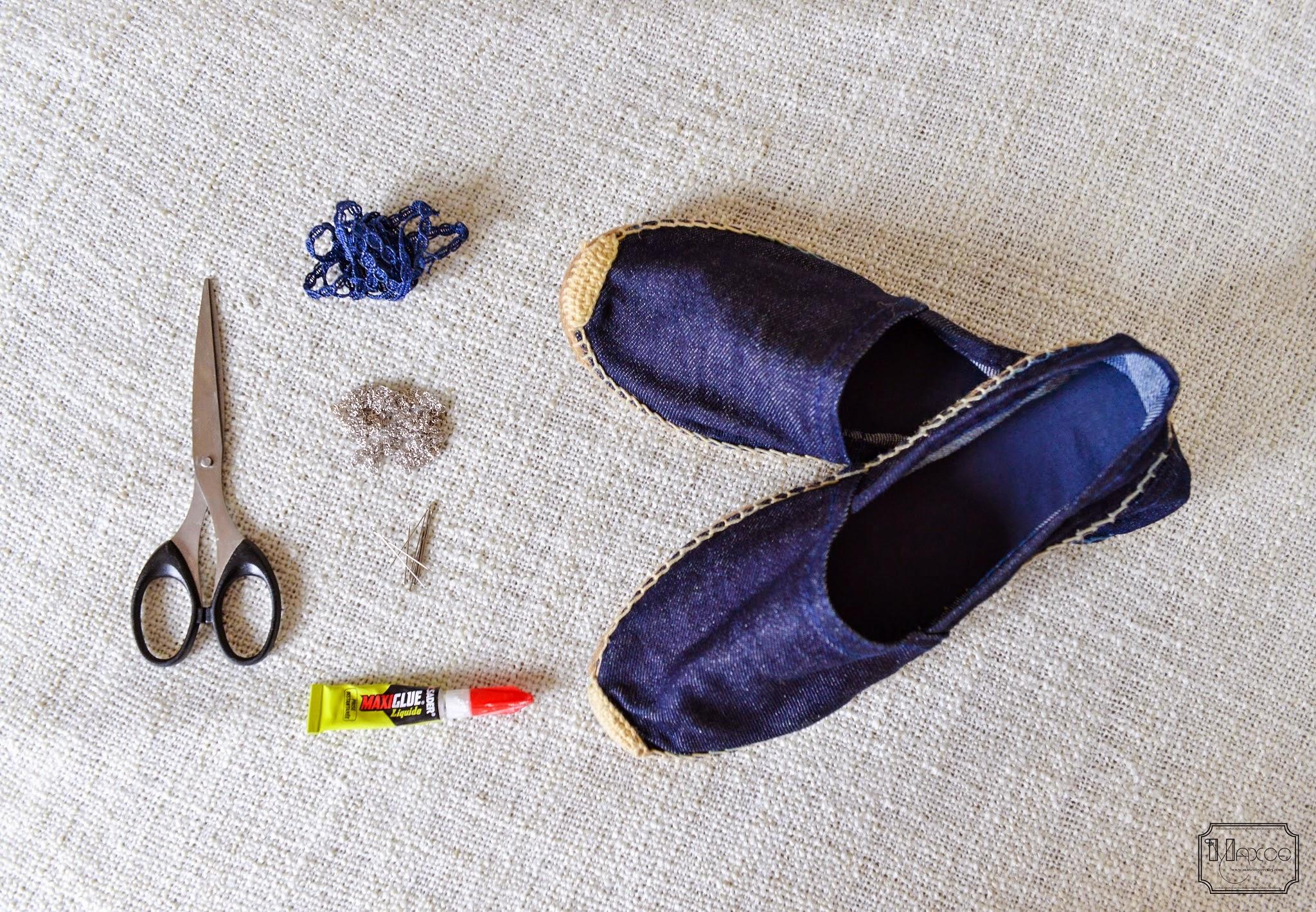MAXCE: DIY embellished espadrilles