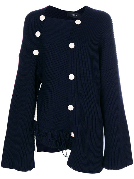 Joseph jumper women blue wool sweater