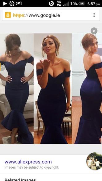 dress navy dress boob tube prom dress evening dress
