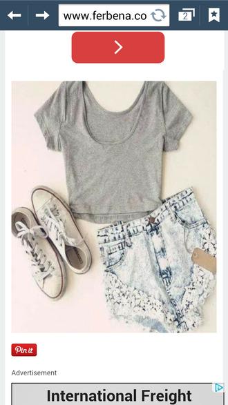 floral lace denim shorts shorts