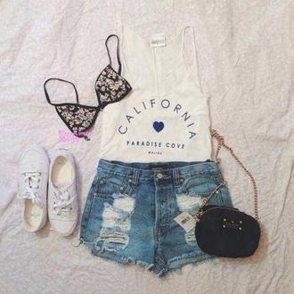 shirt california summer tank top summer top summer shirt california top