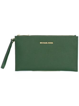 women clutch green bag