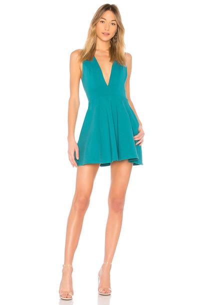 NBD dress teal
