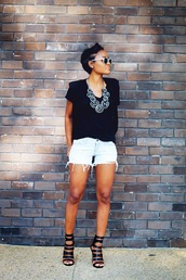 the daileigh,t-shirt,jacket,jewels,sunglasses,shoes