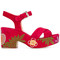 Laurence dacade - nadine sandals - women - leather/suede - 37, red, leather/suede