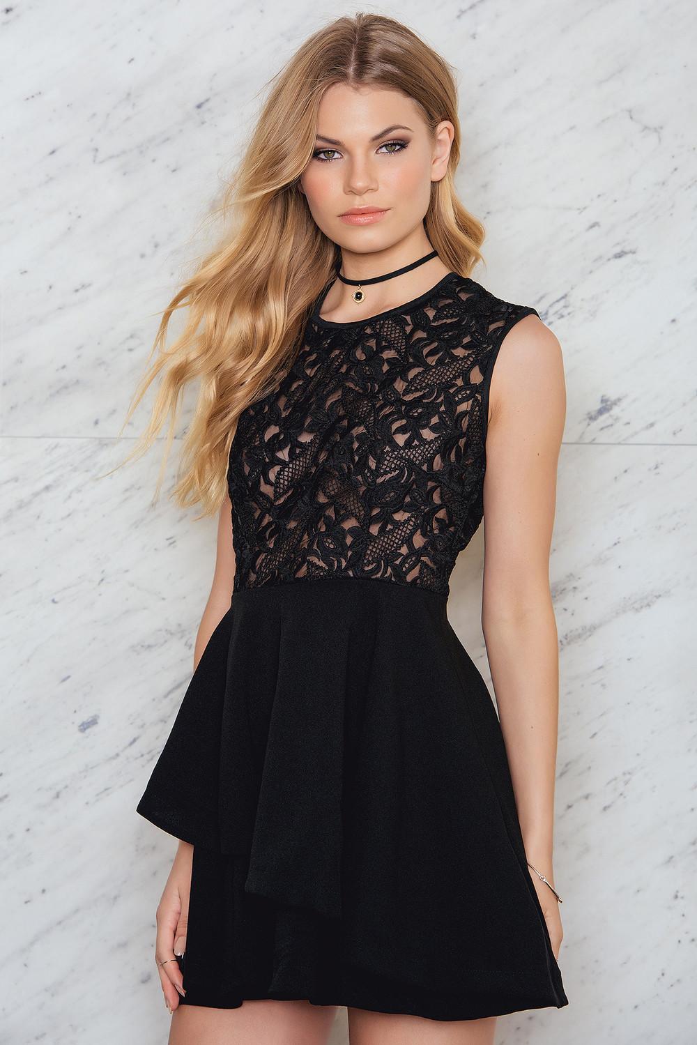 Hot Anatomy Lace Frill Dress