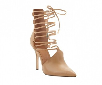 nude pumps pointed toe shoes