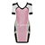 Pink Day Dress - Bqueen Beaded Mesh Short Sleeve | UsTrendy