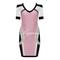 Pink day dress - bqueen beaded mesh short sleeve | ustrendy