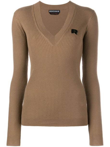 jumper women wool brown sweater