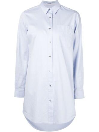 shirt oversized shirt oversized blue top