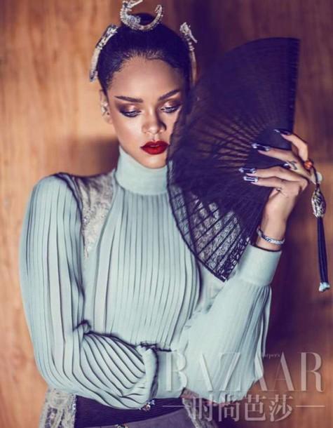 blouse rihanna top