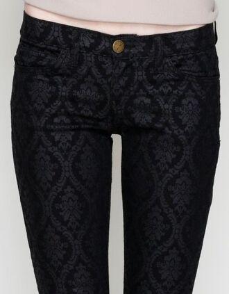 jeans patterned jeans black jeans