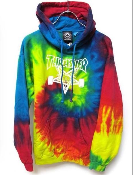 sweater thrasher tie dye