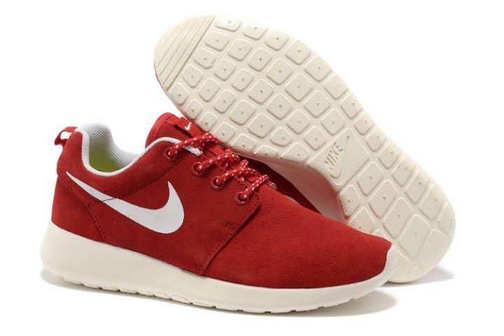 2014 Running Nike Roshe Run France: Femme Roshe Run Rose Fluo Pas Cher Solde Boutique