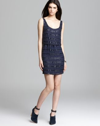 Alice   Olivia Tank Dress - Gabby Embellished Blousson | Bloomingdale's