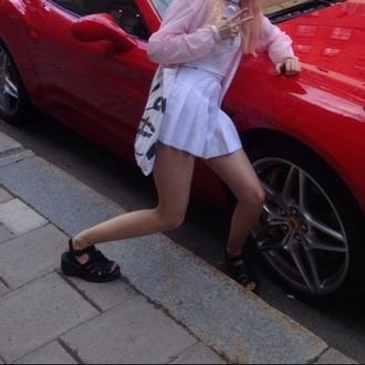 skirt white college skirt