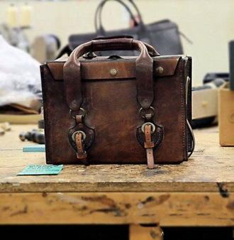 bag briefcase leather bag mens briefcase vintage
