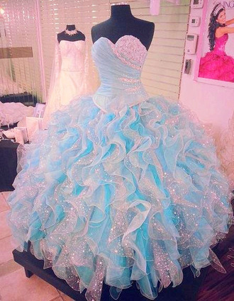 dress quincè quinceanera dress glitter quince dress blue dress cinderella dress puffy wedding crazy prom puffy dress princess dress gown prom dress