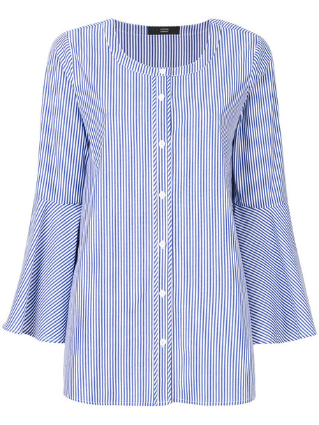 Steffen Schraut shirt women cotton blue top