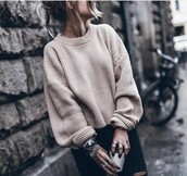 sweater,camel,brown,pullover,blush,pink,oversized,lace up nude sweater,nude sweater,nude,white,white sweater,vanilla tote,vanila,sweater weather,printed sweater,pull,vintage pullover,nude pullover,cream,jumper,winter outfits,fall outfits,cream jumper,cream sweater,ribbed,winter sweater,fall sweater,cute,comfy,oversized sweater,oversized knit sweater,knit