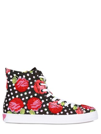 sneakers. embellished sneakers black pink shoes