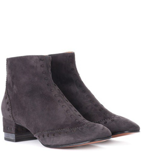 Chloe suede ankle boots ankle boots suede grey shoes