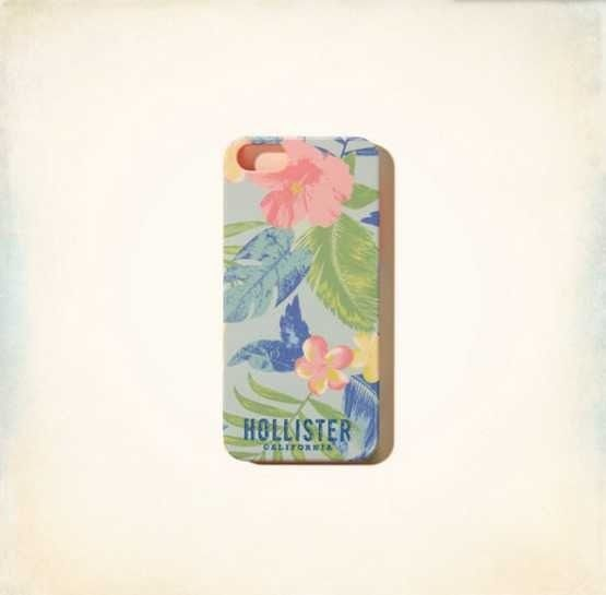 NEW IN BOX HOLLISTER CALIFORNIA FLORAL HARD PHONE CASE FOR IPHONE 5 5S AUTHENTIC