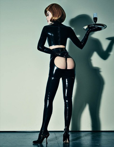 top latex pvc kylie jenner editorial edgy sexy tight all black everything crop tops skirt pants shoes