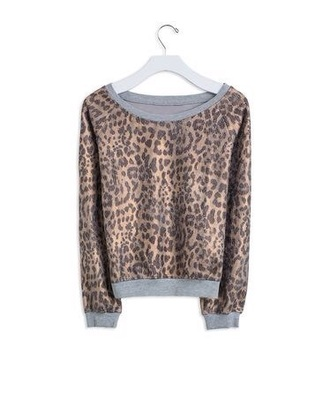 sweater cheetah print shirt leopard print top cute sweaters grey sweater gray sweater animals animal print leopard print
