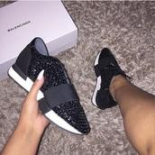 shoes,balenciaga,black shoes,sneakers,black sneakers