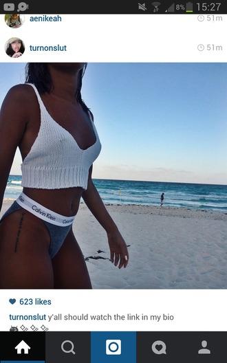 top crochet bikini white top crochet top crochet bikini white bikini calvin klein