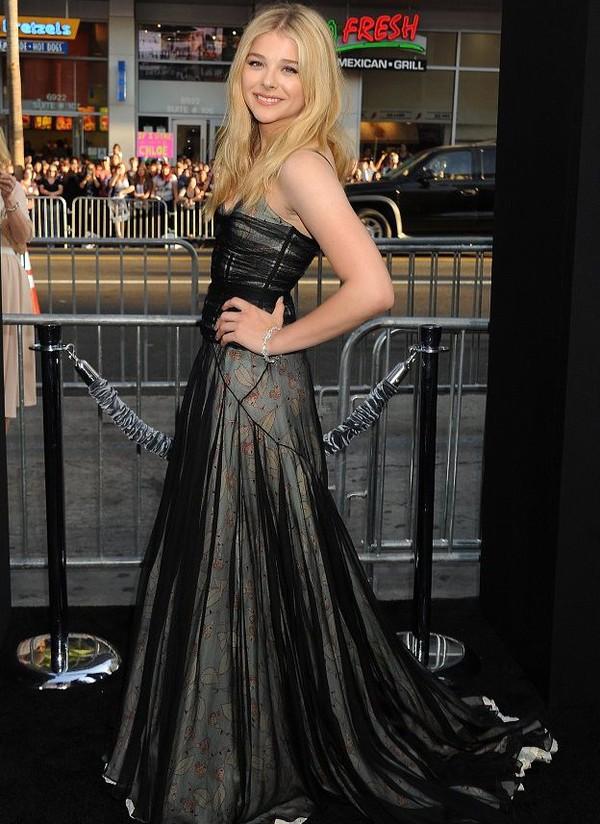 chloe grace moretz dress couture dress
