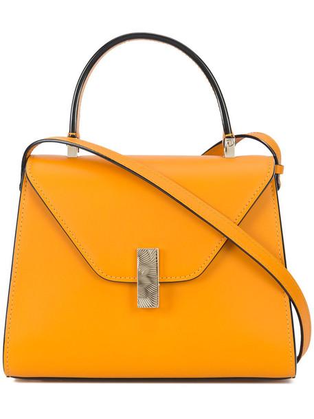 Valextra women bag crossbody bag leather yellow orange