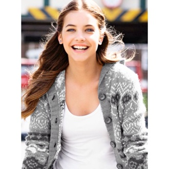 cardigan aztec sweater barbara palvin