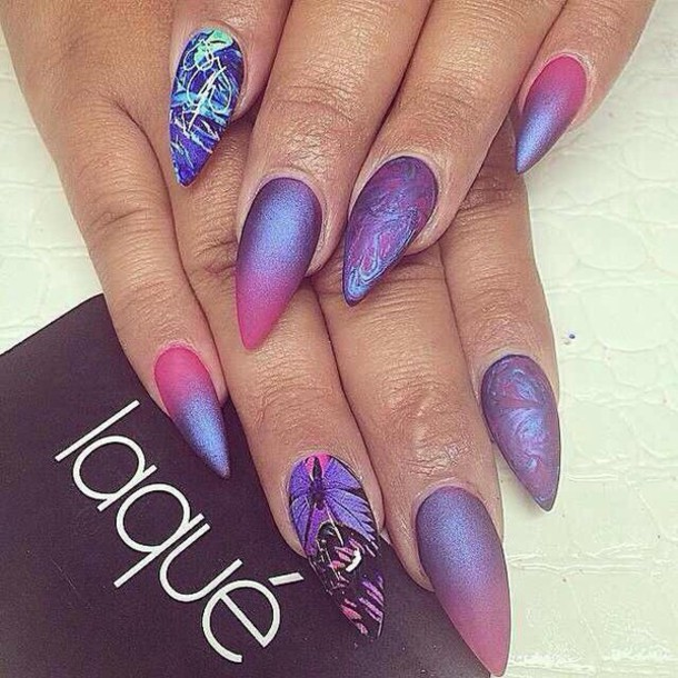 nail polish multi colored nails