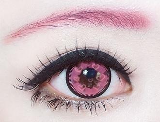 heart make-up girly contacts japanese korean